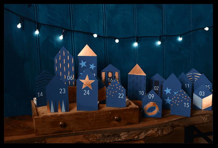 Calendario de adviento para imprimir del blog Rosehip