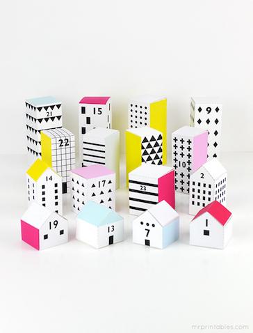 Calendario de adviento DIY con plantilla para imprimir