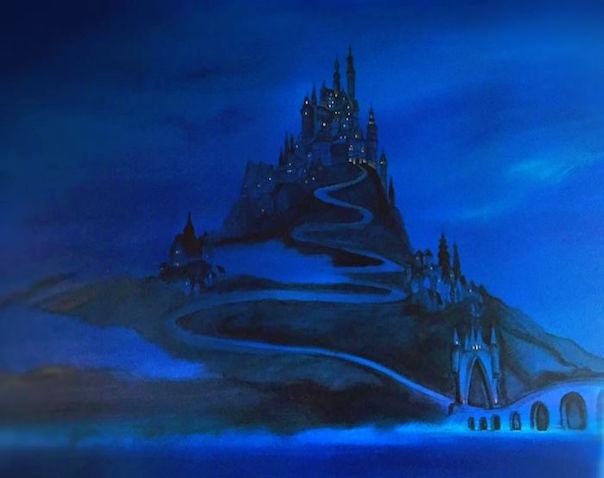 El Castillo de Rapunze fue lo primero que pintó