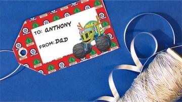 Etiquetas para regalos de Navidad de la Patrulla Canina