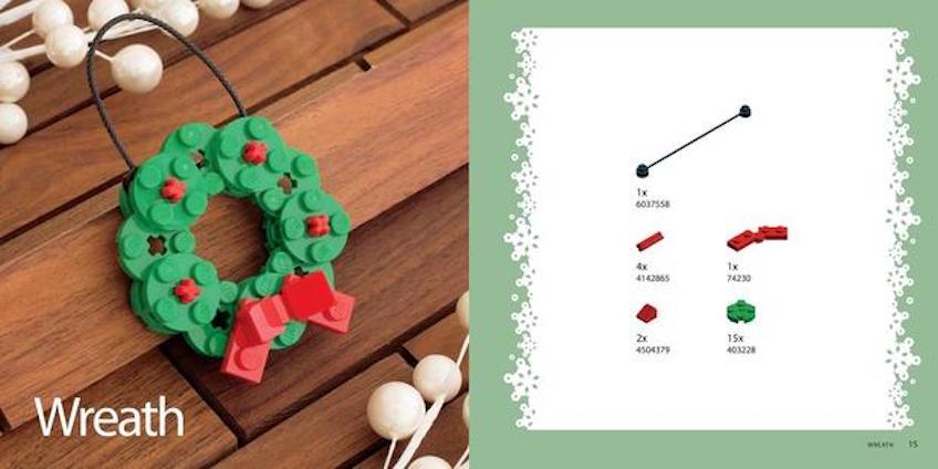 Adornos de Navidad hechos de Lego DIY