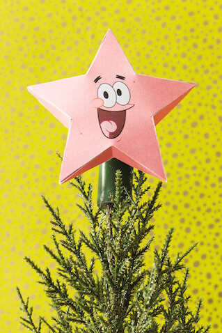 Estrella de Patricio para el árbol de Navidad