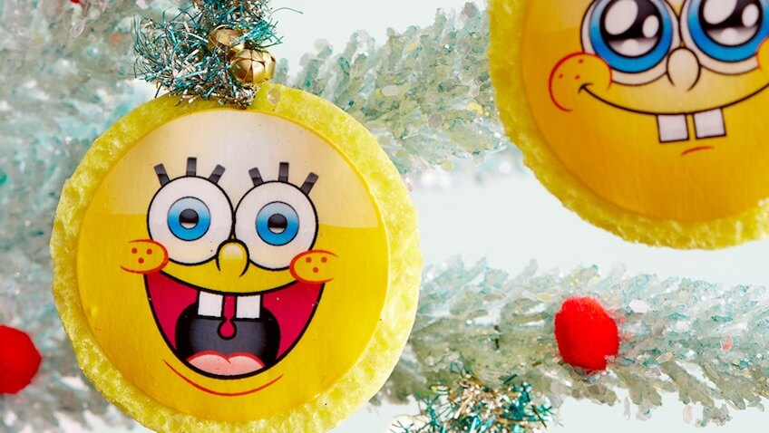 Adornos de Bob Esponja para decorar tu árbol de Navidad