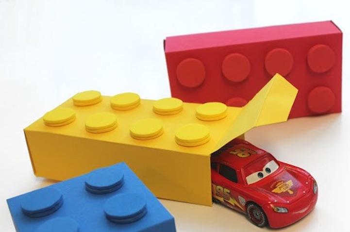 Cajas de regalos para imprimir de Lego