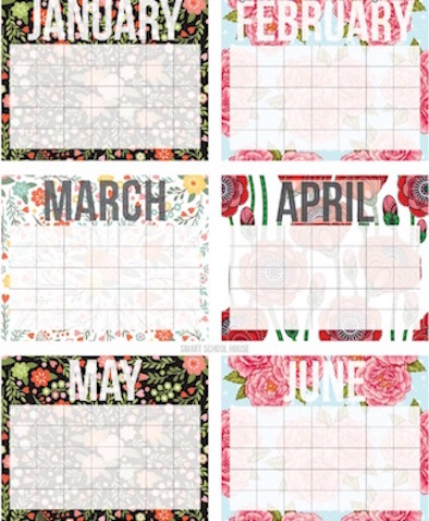 Calendarios del 2017
