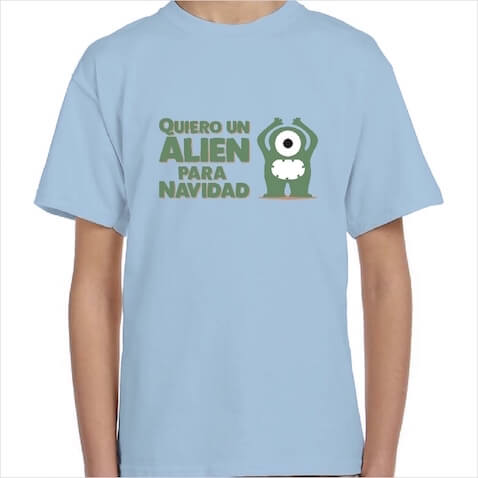 Divertida camiseta infantil para Navidad