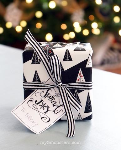 papel de regalo de Navidad para imprimir