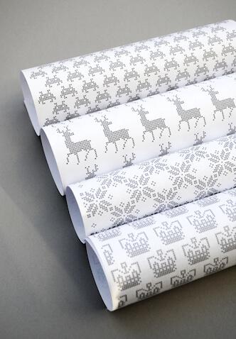 Papeles de regalo de Navidad para imprimir gratis