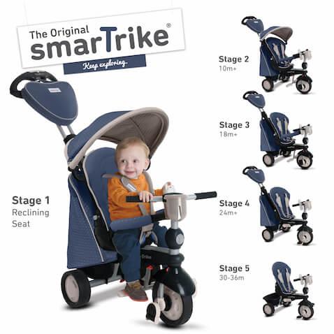 Triciclo smarTrike Recliner Infinity 5 en 1 color azul