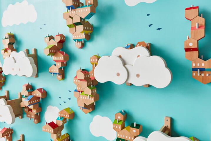 Sky Villages bloques de madera 3D