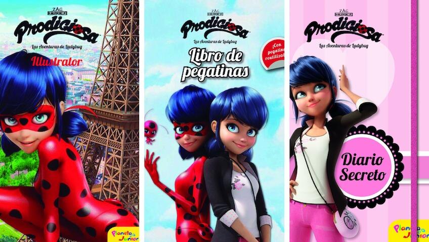 Libros infantiles de la Prodigiosa Ladybug