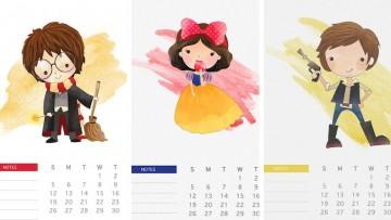 3 calendarios infantiles para imprimir, con los que empezar marzo