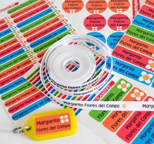 Pack etiquetas personalizadas para ropa niñ@s