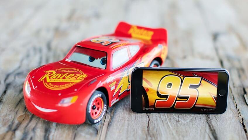 Rayo McQueen coche rc de juguete
