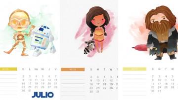 3 calendarios de julio para imprimir a los niñ@s