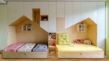 Idea para decorar una habitación infantil para hermanos