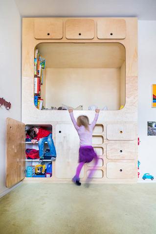 Armario con espacio para que los niñ@s lean