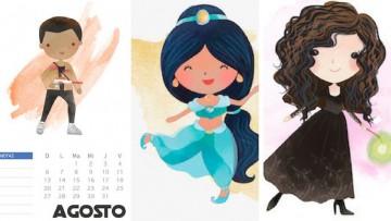 3 calendarios de agosto para imprimir a tus hij@s