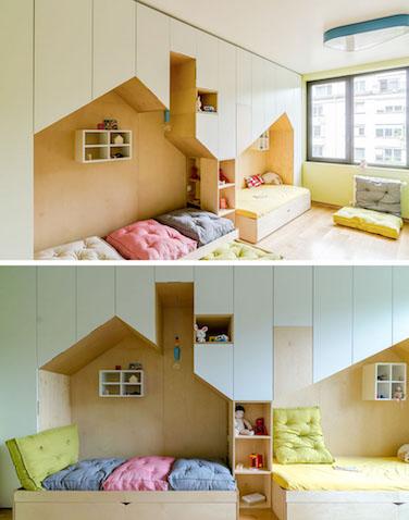 cómo decorar habitacion infantil para hermanos