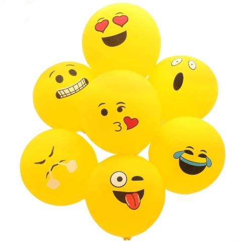 Globos para fiesta emojis con diferentes caras