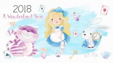 Calendario del 2018 de Alicia en el país de las maravillas