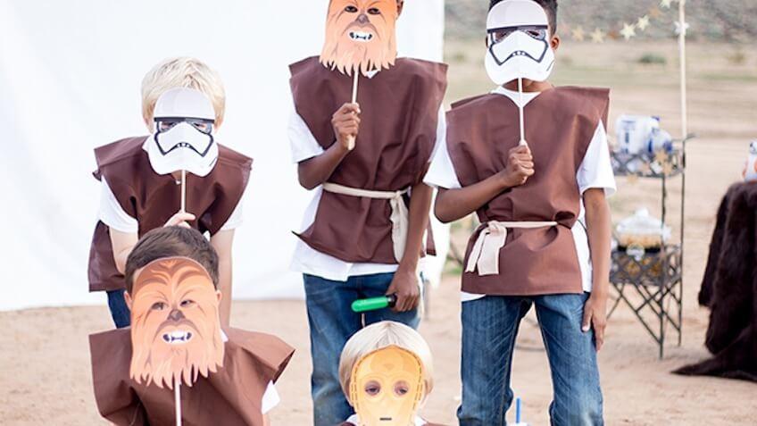 Máscaras de Star Wars para imprimir gratis para niños para hacer disfraces caseros de Star Wars faciles para niños