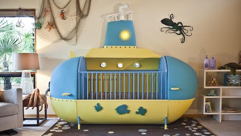 Cuna para beb s con original dise o de submarino - Cuna de diseno ...