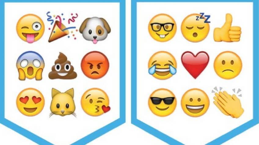 Fiesta de Emoji guirnalda para imprimir gratis