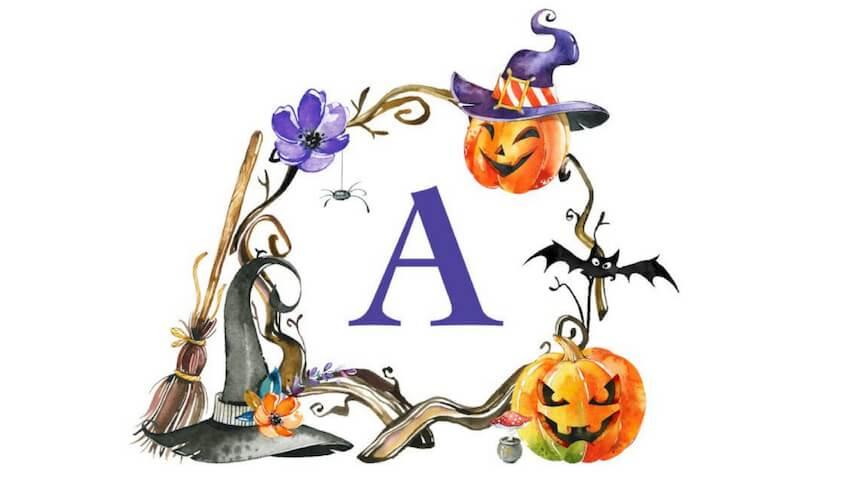 Láminas infantiles para Halloween descargar plantilla e imprimir gratis