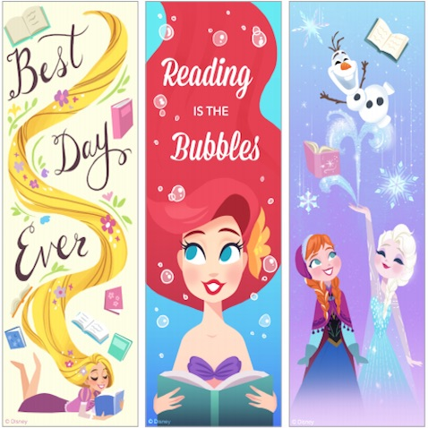 Marcapáginas para imprimir gratis para niñ@s de Princesas Disney o Disney Princess