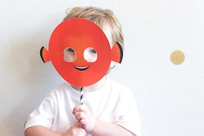 Máscaras para imprimir gratis de Nemo