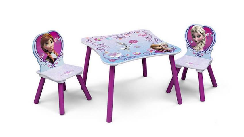 Mesa y sillas infantiles de Disney Frozen para niñas