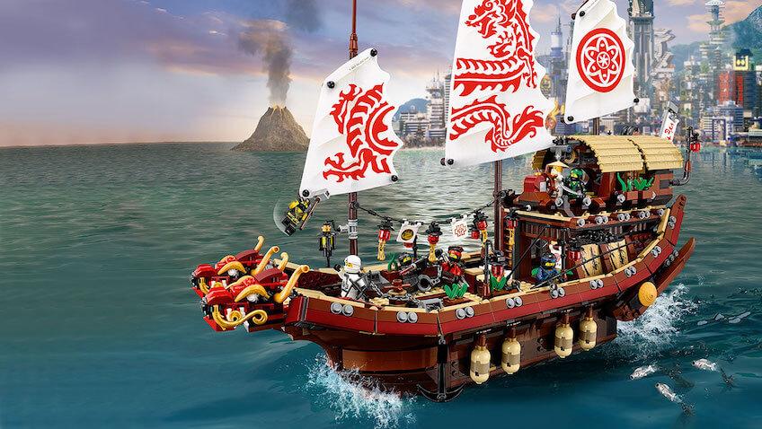 Set de construcciones barco de asalto ninja de la película Lego Ninjago