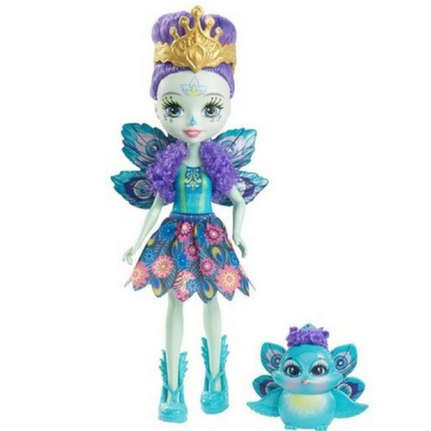 Patter Peacock y su pajarito Flap Enchantimals de Mattel