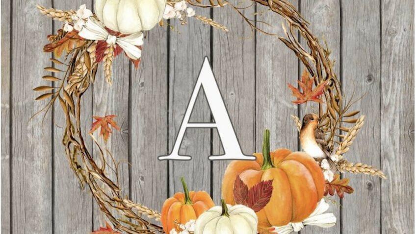 láminas infantiles de otoño para imprimir gratis con letras
