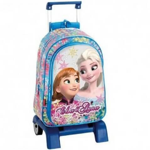 Mochila con ruedas Disney Frozen rebajada de Anna y Elsa