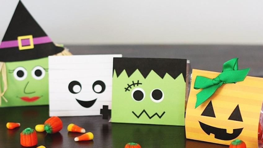 Bolsas de chuches para Halloween para imprimir gratis