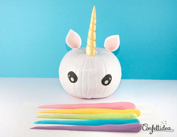 calabaza de unicornio para Halloween