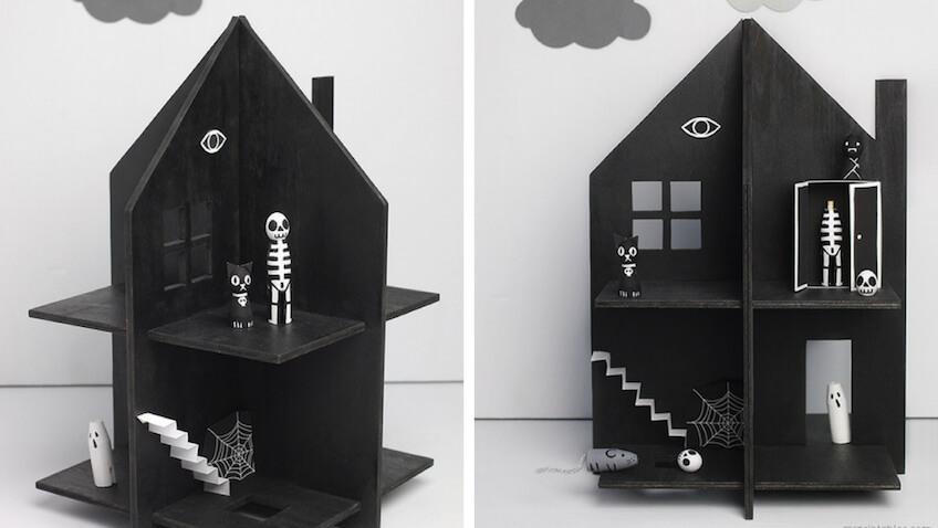 casa embrujada para halloween diy con plantilla para imprimir