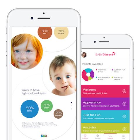 Cómo será mi bebé BabyGlimpse app para predecir según adn