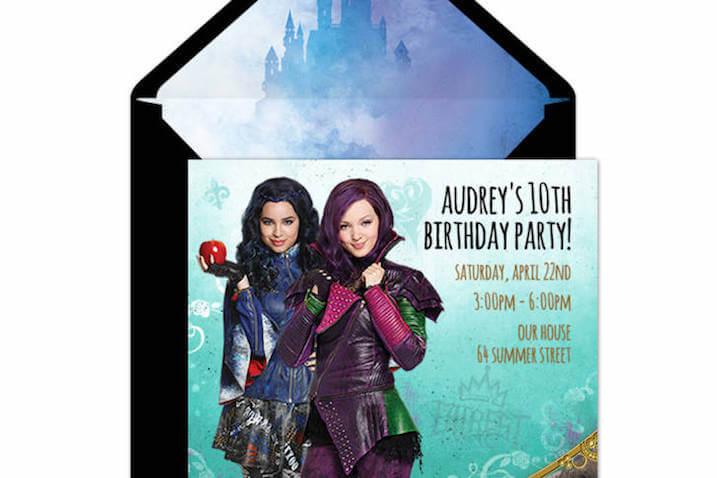 Invitación para fiesta de Los Descendientes para imprimir