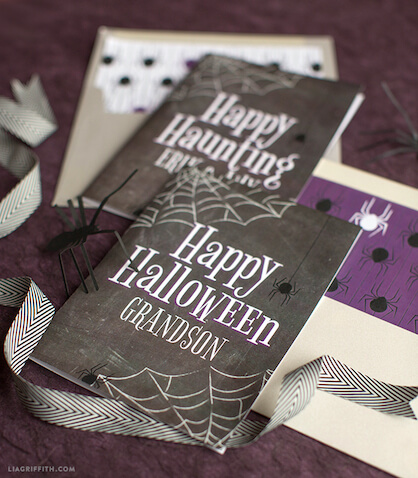 Tarjetas para Halloween personalizadas