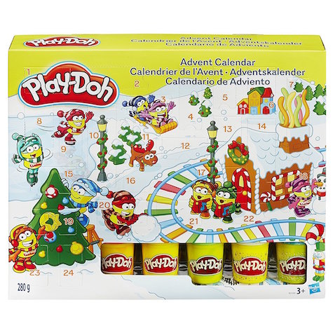Calendario de adviento juguete de Play-Doh
