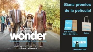 ¡Gana un pack de premios de la película Wonder!