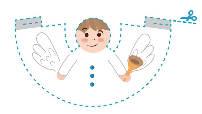 angel recortable decoración de navidad para imprimir gratis