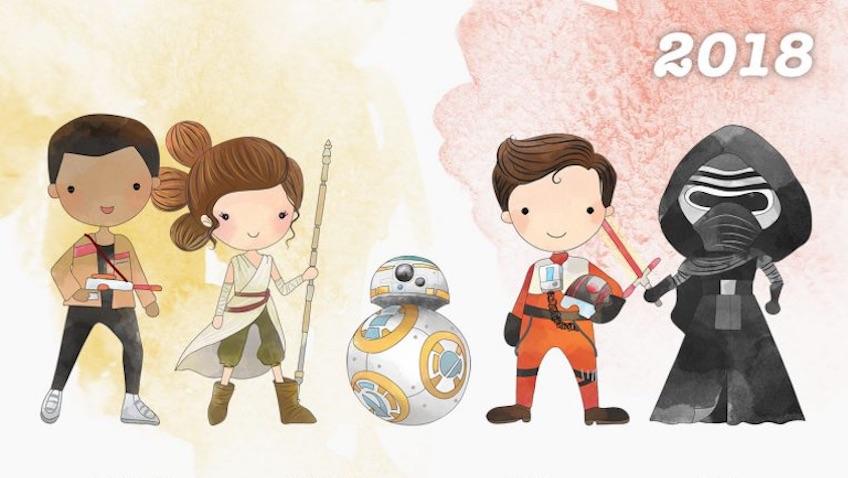 Calendariode Star Wars para el 2018 para imprimir gratis
