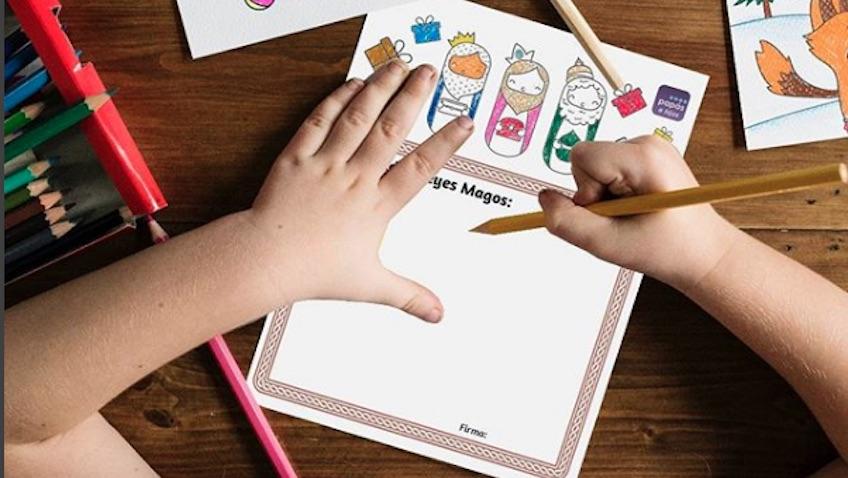 Carta para los Reyes Magos para colorear que puedes imprimir gratis