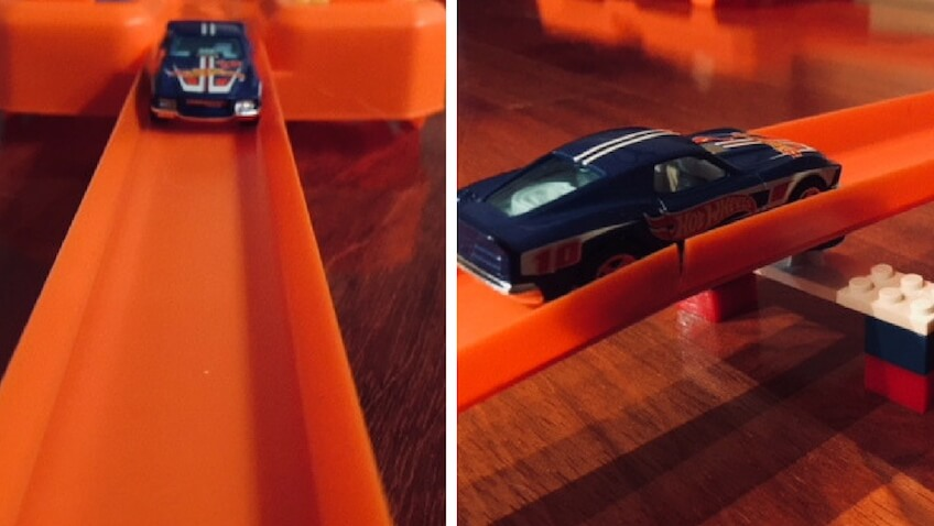 reto hot wheels coches circuito de acrobacias