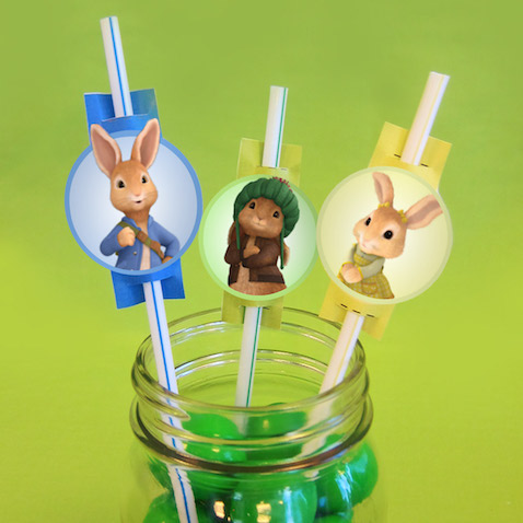Decoración para pajitas de Peter Rabbit para imprimir gratis