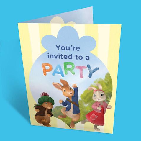 Invitaciones de Peter Rabbit para imprimir gratis